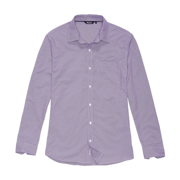 Worldview Shirt - Plum Nano Gingham