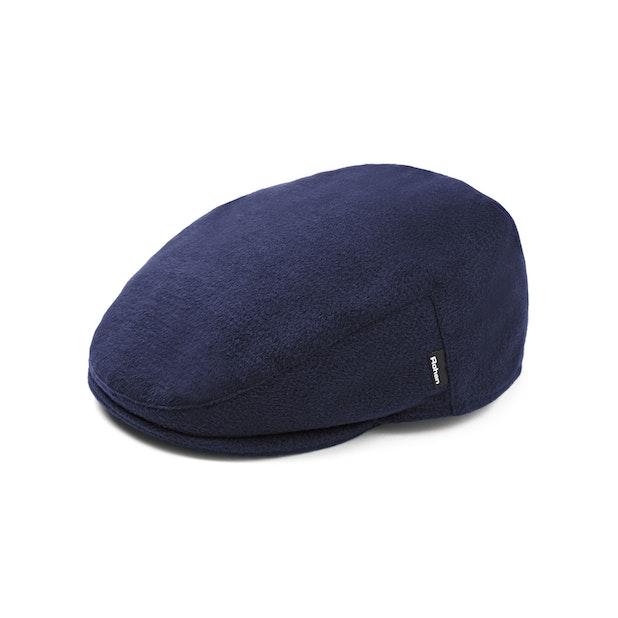 Fleece Flat Cap - Navy Marl