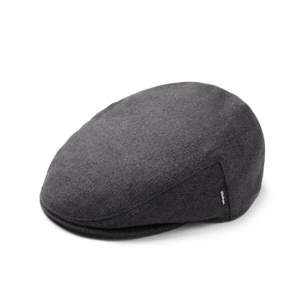Fleece Flat Cap - Charcoal Marl
