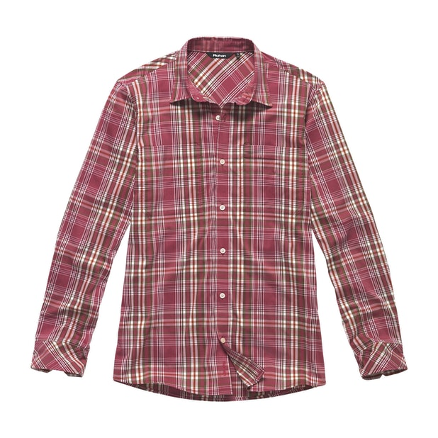 Fenland Shirt Long Sleeve - Mineral Red Check