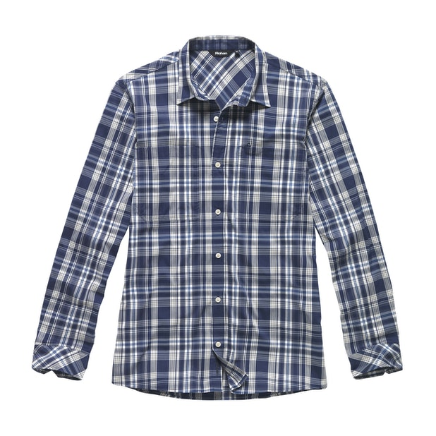 Fenland Shirt Long Sleeve - Moonlight Blue Check