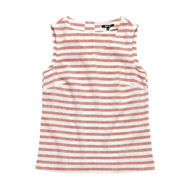 Malay Top - Chalk Red Stripe