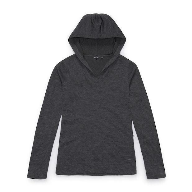Merino Union 150 Hooded Top Long Sleeve - Charcoal Marl
