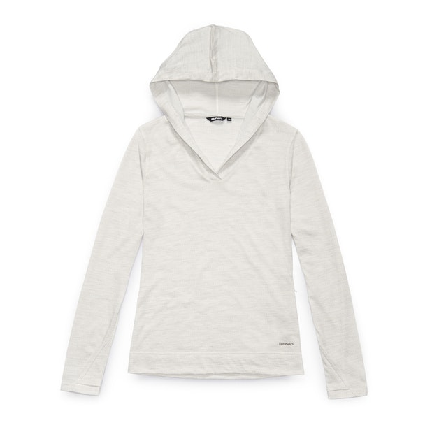 Merino Union 150 Hooded Top Long Sleeve - Natural Marl