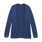 Viewing Extrafine Merino Knitted Cover-Up Cardi - Mallard Blue Marl