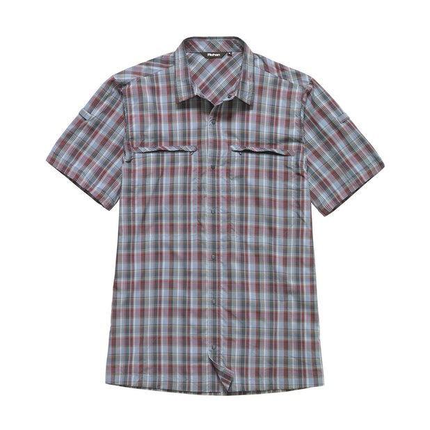 Equator Shirt - Stonewash Blue Check
