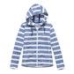 Viewing Coastline Hooded Jacket - Mallard Blue Stripe