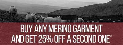 Buy any Merino garment and get 25% off a second