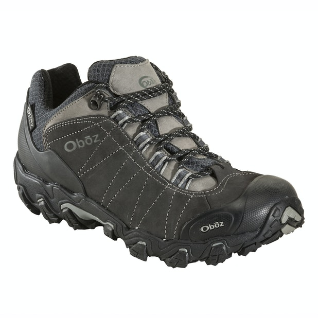 """Oboz Bridger Low B Dry - Wide - Durable, supportive and waterproof hiking shoes. <br /><span style=""""color:#007380;font-weight:bold"""">Plus free shoe care kit worth &pound;16</span>"""