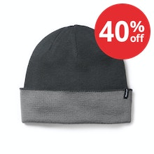 Unisex merino-blend hat for active outdoor use.