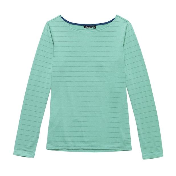 Stria Top - Mineral Green Stripe