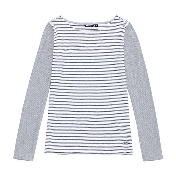 Stria Top - White Stripe