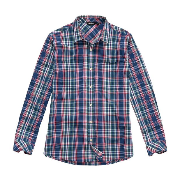Fenland Shirt Long Sleeve - Deep Navy Check