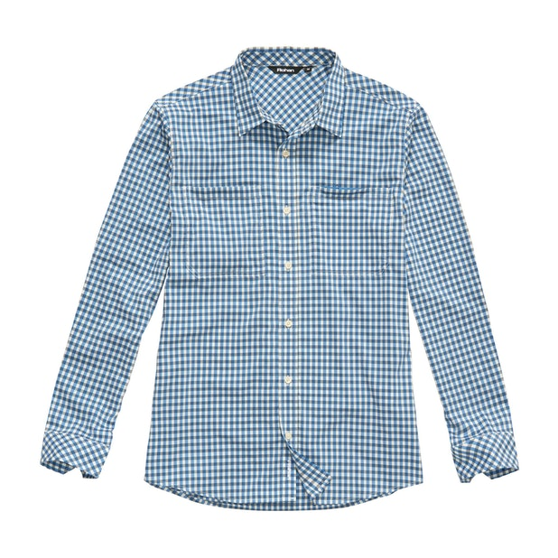 Fenland Shirt Long Sleeve - Nautical Blue Gingham