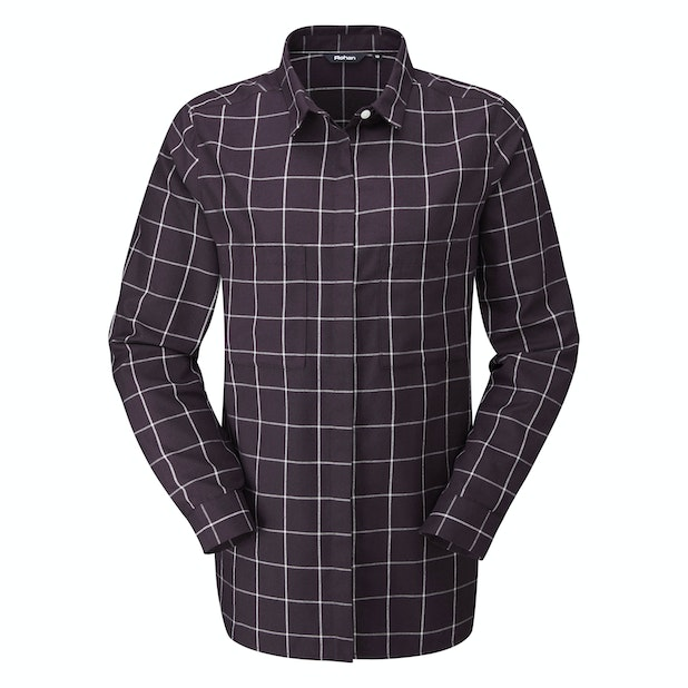 Homestead Shirt - Warm, technical shirt with brushed cotton aesthetic.