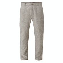 Technical, smart-casual linen trousers.