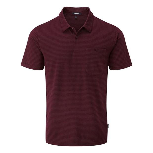 Stria Polo - Technical, cotton-feel, short sleeve polo.