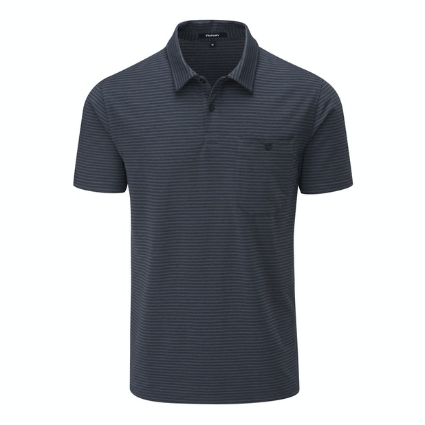 Stria Polo - Technical, cotton-feel, short sleeve polo.