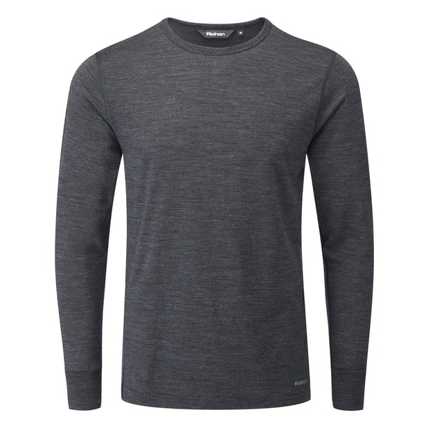 "Merino Union 150 Crew - <a href=""/mens-Voucher-Book-Offers "" class=""hide-us"" style=""color:#7A1E21;font-weight:bold"">Men's New Season Offers available - click here*</a><span class=""hide-uk"">Merino-blend technical base layer.</span>"