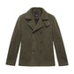 Viewing Cold Harbour Coat - Technical, machine washable, wool-blend pea-coat.