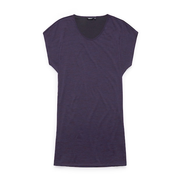 Merino Union 150 Dress - Plum Marl
