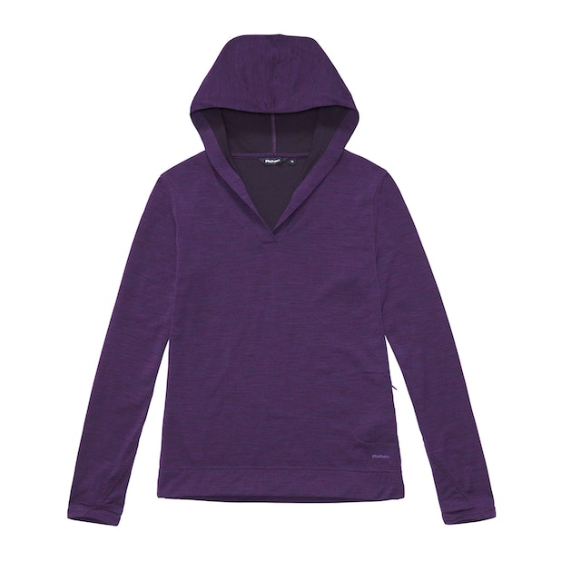 Merino Union 150 Hooded Top Long Sleeve - Iris Marl