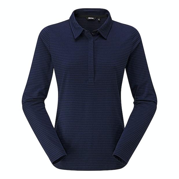 Stria Polo - Cotton-feel, technical long sleeve polo.