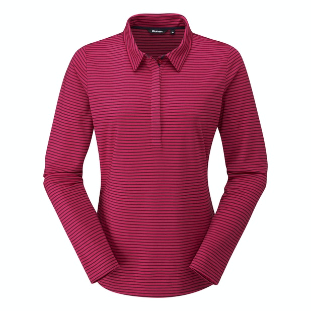 Stria Polo - Cotton-feel, technical long sleeve polo.