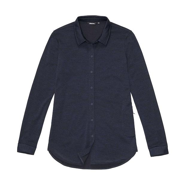 Merino Union 150 Shirt Long Sleeve - Dark Navy Marl