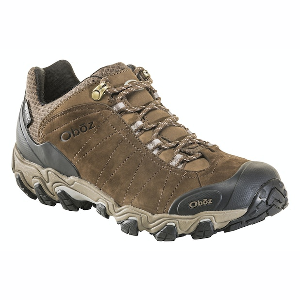 """Oboz Bridger Low B Dry - Rugged, waterproof, mid-height trekking shoe. <br /><span style=""""color:#007380;font-weight:bold"""">Plus free shoe care kit worth &pound;16</span>"""