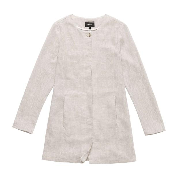 Malay Longline Jacket  - Smart casual, linen-blend jacket.