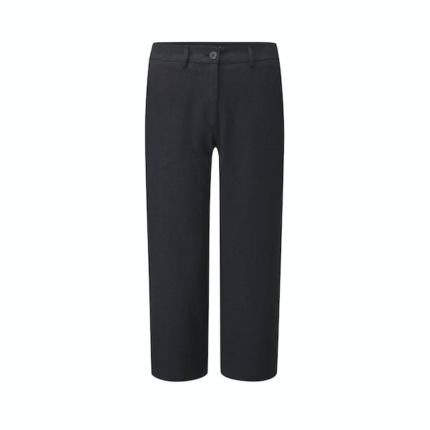 Malay Cropped Trousers - Linen-blend, crease-resistant trousers.