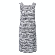 Linen-blend shift dress perfect for hot weather.