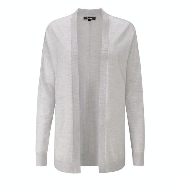 Extrafine Merino Knitted Cover-Up Cardi - Luxuriously soft 100% extrafine merino cardi.