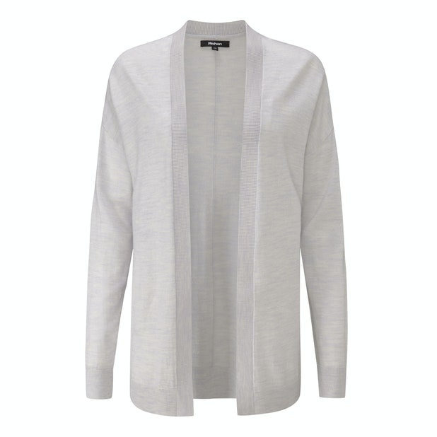 Extrafine Merino Knitted Cover-Up Cardi - Luxuriously soft 100% extrafine merino cardi.