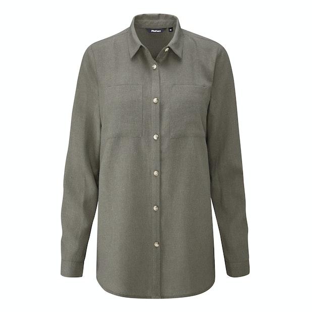 Malay Shirt - Relaxed fit linen-blend shirt.