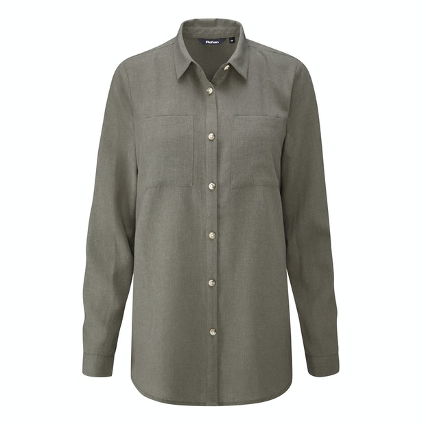 Malay Shirt - Relaxed fit linen-blend shirt.