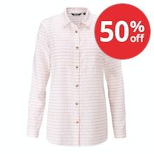 Relaxed fit linen-blend shirt.
