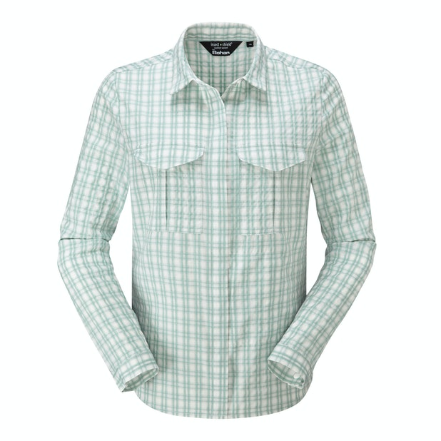 """Sanctuary Shirt  - <a href=""""/womens-anti-insect-clothing-for-outdoors-and-travel """" class=""""hide-us"""" style=""""color:#d3771c;font-weight:bold"""">Insect Shield offer available - click here*</a><span class=""""hide-uk"""">Trekking shirt with sun and insect protection.</span>"""