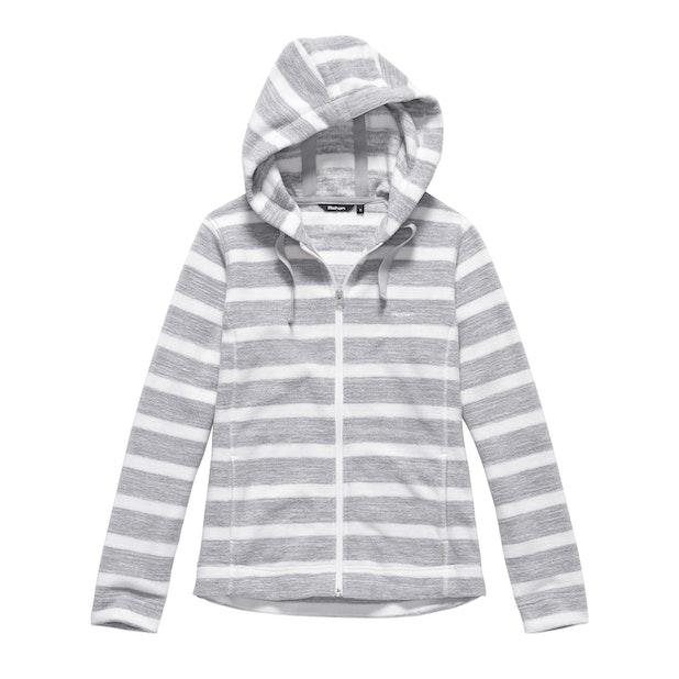 Coastline Hooded Jacket - Light Grey Stripe