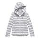 View Coastline Hooded Jacket - Light Grey Stripe