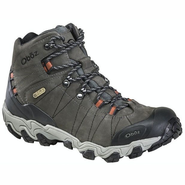 """Oboz Bridger Mid B Dry - Waterproof, breathable mid-cut boots. <br /><span style=""""color:#007380;font-weight:bold"""">Plus free shoe care kit worth &pound;16</span>"""