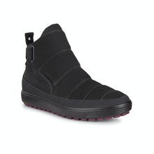 Water-resistant, contemporary fleece lined boots.