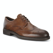 Elegant Brogue Derby style shoe with Fluidform technology.