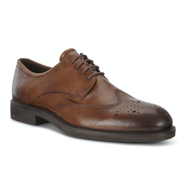 ECCO Vitrus III - Elegant Brogue Derby style shoe with Fluidform™ technology.