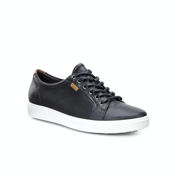ECCO Soft 7  - Comfortable, casual leather lace up shoe.