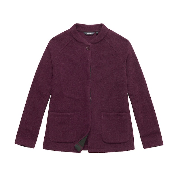 Malmo Jacket - Warm, wool-blend coat for winter travel.