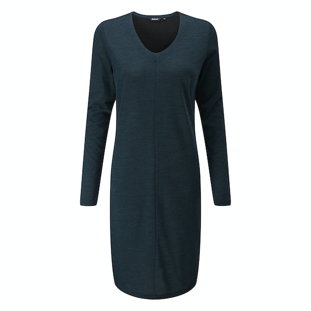 Merino Union Dress - Technical, wool-blend travel dress.