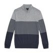 Viewing Extrafine Merino Knitted Zip Top - Classic, 100% extrafine merino half-zip pullover.