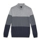 View Extrafine Merino Knitted Zip Top - Mid Grey Marl
